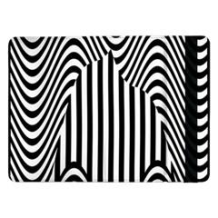 Stripe Abstract Stripped Geometric Background Samsung Galaxy Tab Pro 12 2  Flip Case