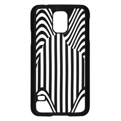 Stripe Abstract Stripped Geometric Background Samsung Galaxy S5 Case (Black)
