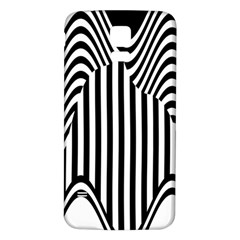 Stripe Abstract Stripped Geometric Background Samsung Galaxy S5 Back Case (White)