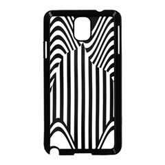 Stripe Abstract Stripped Geometric Background Samsung Galaxy Note 3 Neo Hardshell Case (Black)