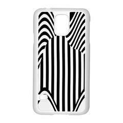 Stripe Abstract Stripped Geometric Background Samsung Galaxy S5 Case (White)