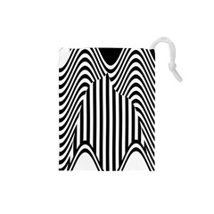 Stripe Abstract Stripped Geometric Background Drawstring Pouches (Small)
