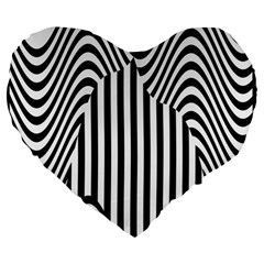 Stripe Abstract Stripped Geometric Background Large 19  Premium Flano Heart Shape Cushions