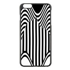 Stripe Abstract Stripped Geometric Background Apple iPhone 6 Plus/6S Plus Black Enamel Case