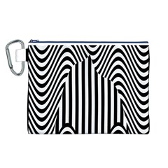 Stripe Abstract Stripped Geometric Background Canvas Cosmetic Bag (l)