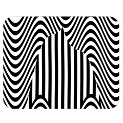Stripe Abstract Stripped Geometric Background Double Sided Flano Blanket (Medium)