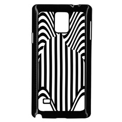 Stripe Abstract Stripped Geometric Background Samsung Galaxy Note 4 Case (Black)