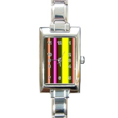 Stripes Abstract Background Pattern Rectangle Italian Charm Watch