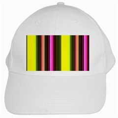Stripes Abstract Background Pattern White Cap