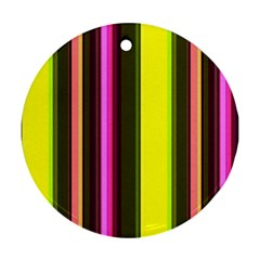 Stripes Abstract Background Pattern Ornament (round)
