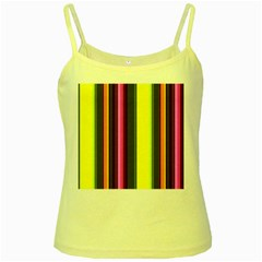 Stripes Abstract Background Pattern Yellow Spaghetti Tank