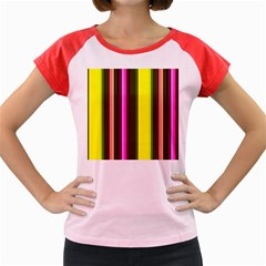 Stripes Abstract Background Pattern Women s Cap Sleeve T Shirt