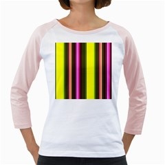Stripes Abstract Background Pattern Girly Raglans