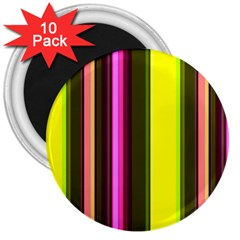 Stripes Abstract Background Pattern 3  Magnets (10 pack)