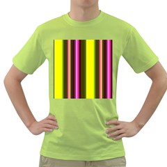 Stripes Abstract Background Pattern Green T-Shirt