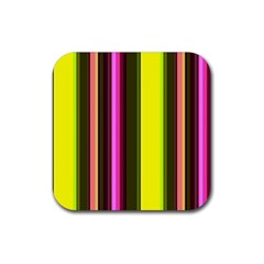 Stripes Abstract Background Pattern Rubber Coaster (square)