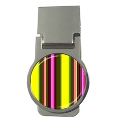 Stripes Abstract Background Pattern Money Clips (round)