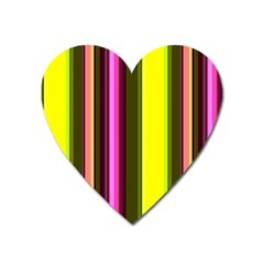 Stripes Abstract Background Pattern Heart Magnet
