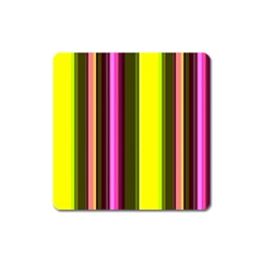 Stripes Abstract Background Pattern Square Magnet