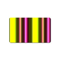 Stripes Abstract Background Pattern Magnet (name Card)