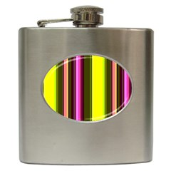 Stripes Abstract Background Pattern Hip Flask (6 Oz)