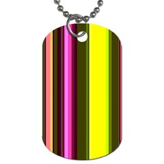 Stripes Abstract Background Pattern Dog Tag (Two Sides)