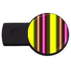 Stripes Abstract Background Pattern USB Flash Drive Round (1 GB)