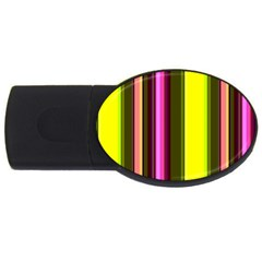 Stripes Abstract Background Pattern USB Flash Drive Oval (2 GB)