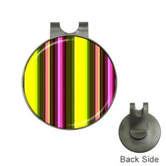 Stripes Abstract Background Pattern Hat Clips With Golf Markers
