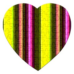 Stripes Abstract Background Pattern Jigsaw Puzzle (Heart)