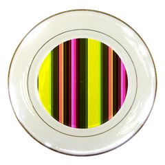 Stripes Abstract Background Pattern Porcelain Plates