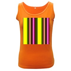Stripes Abstract Background Pattern Women s Dark Tank Top