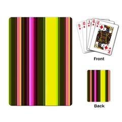 Stripes Abstract Background Pattern Playing Card