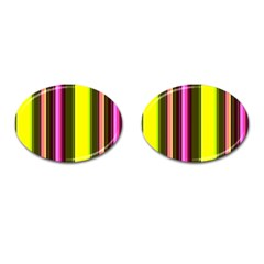 Stripes Abstract Background Pattern Cufflinks (Oval)