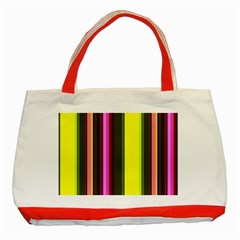 Stripes Abstract Background Pattern Classic Tote Bag (Red)