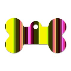 Stripes Abstract Background Pattern Dog Tag Bone (one Side)