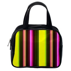 Stripes Abstract Background Pattern Classic Handbags (One Side)