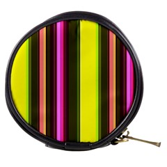 Stripes Abstract Background Pattern Mini Makeup Bags