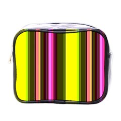 Stripes Abstract Background Pattern Mini Toiletries Bags
