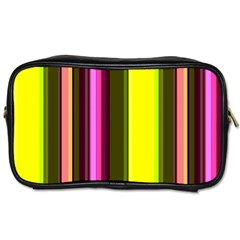 Stripes Abstract Background Pattern Toiletries Bags 2 Side