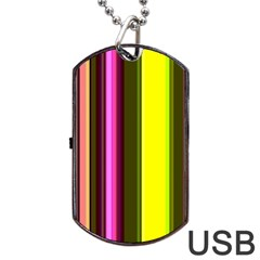 Stripes Abstract Background Pattern Dog Tag Usb Flash (one Side)