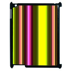 Stripes Abstract Background Pattern Apple iPad 2 Case (Black)