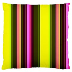 Stripes Abstract Background Pattern Large Cushion Case (One Side)