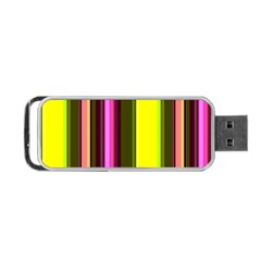 Stripes Abstract Background Pattern Portable USB Flash (Two Sides)
