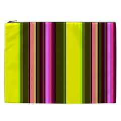 Stripes Abstract Background Pattern Cosmetic Bag (XXL)