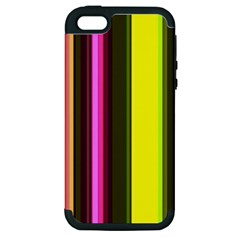 Stripes Abstract Background Pattern Apple iPhone 5 Hardshell Case (PC+Silicone)