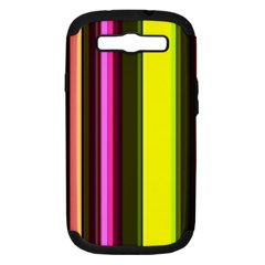 Stripes Abstract Background Pattern Samsung Galaxy S III Hardshell Case (PC+Silicone)
