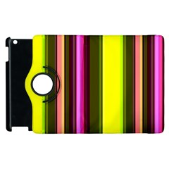 Stripes Abstract Background Pattern Apple iPad 3/4 Flip 360 Case