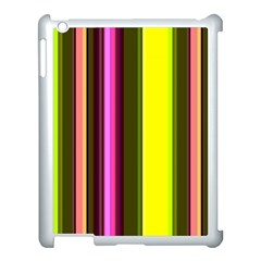Stripes Abstract Background Pattern Apple iPad 3/4 Case (White)