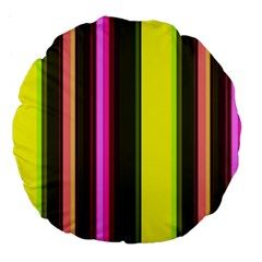 Stripes Abstract Background Pattern Large 18  Premium Round Cushions